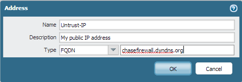 Palo Alto Networks - Using a dynamic public IP address