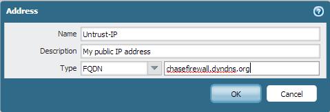 Palo Alto Networks - Using a dynamic public IP address