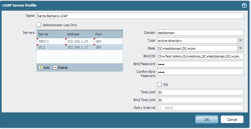 Palo Alto Networks - LDAP and Group Mapping config guide